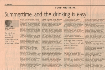 2006 - The financial times - Summertime, and the drinking is easy